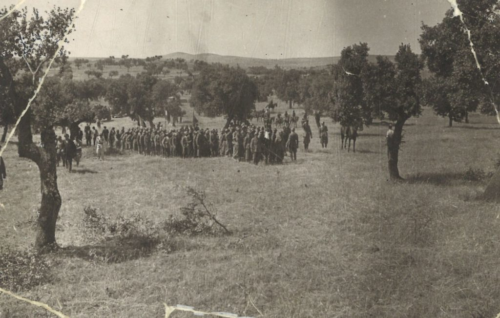 Brigada Flechas Azules en Campillo de Llerena (Badajoz) - junio 1937